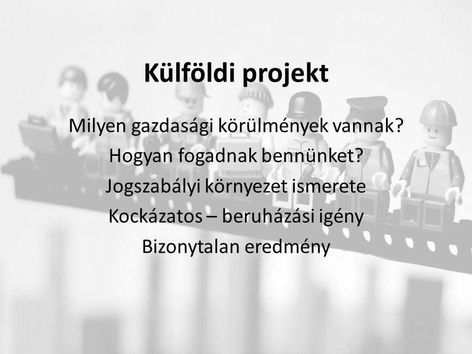 Külföldi projekt Milyen gazdasági körülmények vannak.