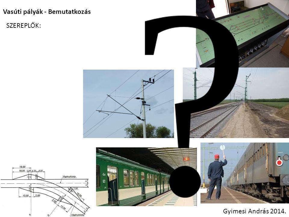 Vasúti pályák - Tárgytematika Gyimesi András 2014.