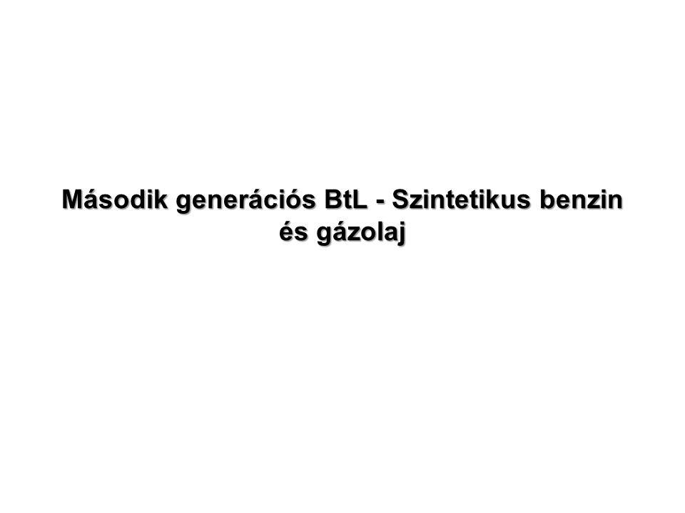 Második generációs BtL - Szintetikus benzin és gázolaj
