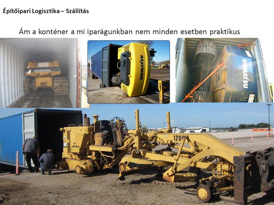 Építőipari Logisztika – Szállítás Gyimesi András 2014. Ám a konténer a mi iparágunkban nem minden esetben praktikus