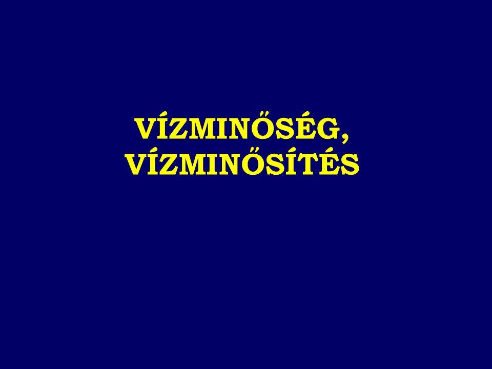# KOI ps # Fe # Mn # NH 4 + # NO 3 - # As AZ EU DIREKTÍVA SZERINT NEM MEGFELELŐ VÍZBÁZISOK