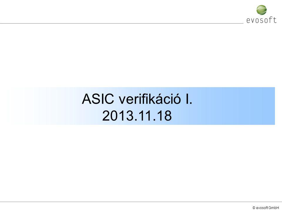 © evosoft GmbH ASIC verifikáció I. 2013.11.18