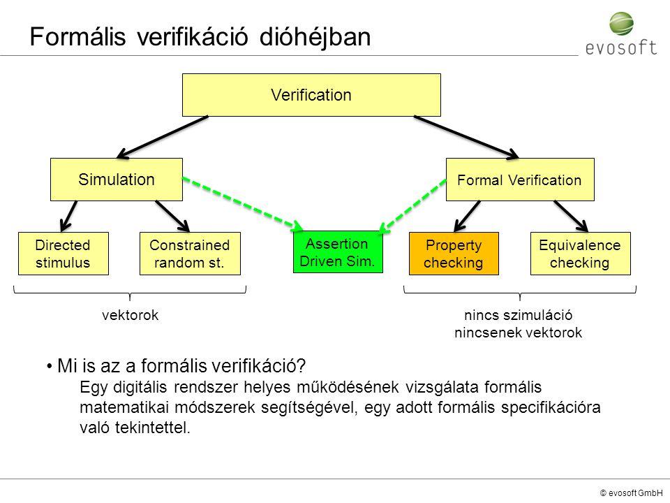 © evosoft GmbH Mi is az a formális verifikáció? Egy digitális rendszer helyes működésének vizsgálata formális matematikai módszerek segítségével, egy