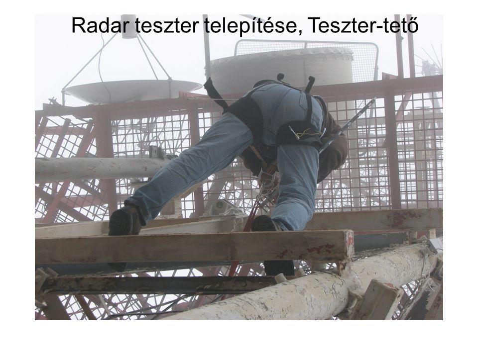 Radar teszter telepítése, Teszter-tető