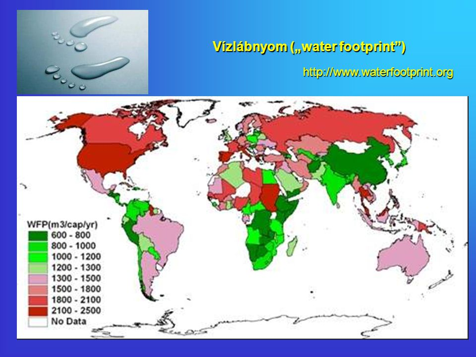 "Vízlábnyom (""water footprint ) http://www.waterfootprint.org"