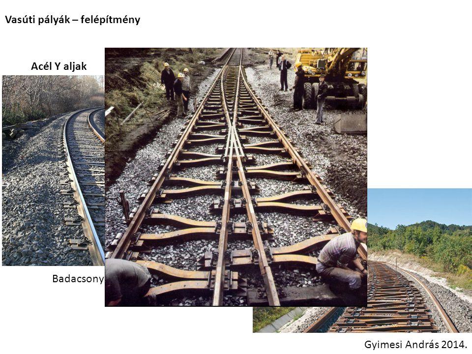 Vasúti pályák – felépítmény Acél Y aljak Esztergomi vonal Badacsony Gyimesi András 2014.