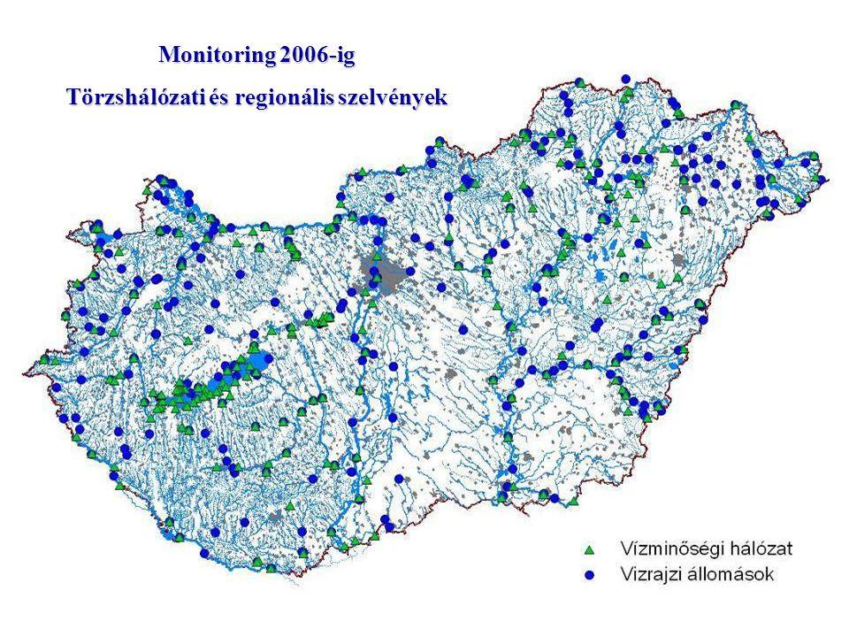 Monitoring 2006-ig Törzshálózati és regionális szelvények