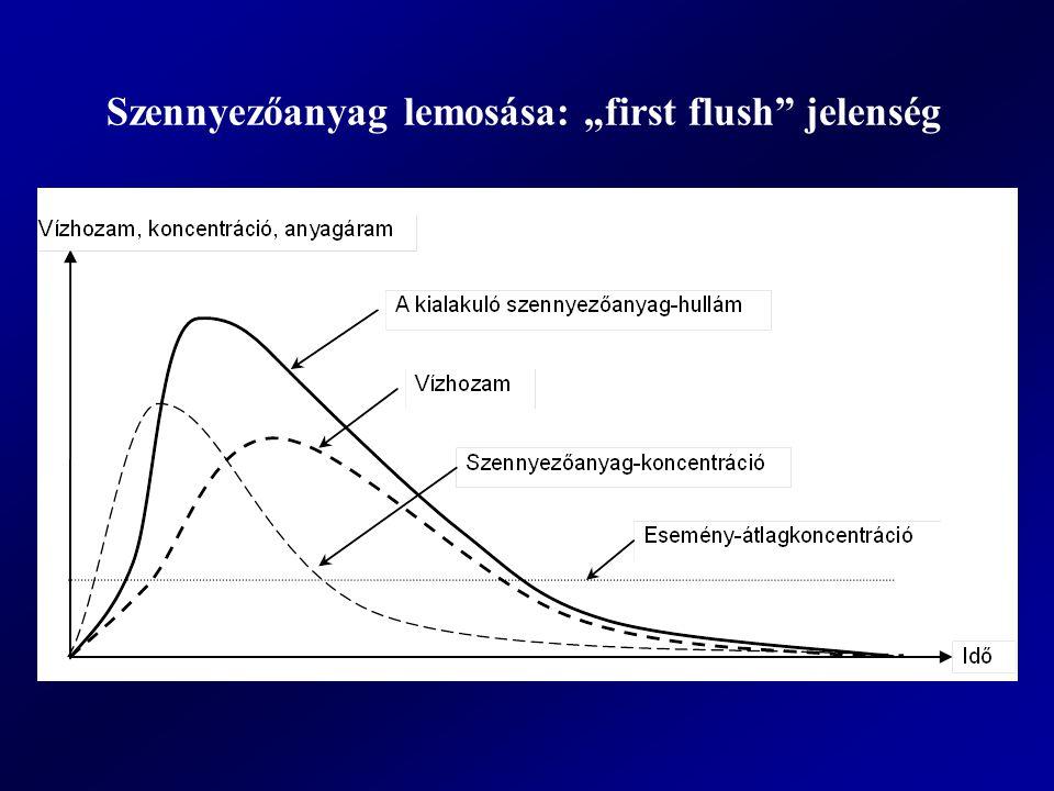 """Szennyezőanyag lemosása: """"first flush jelenség"""