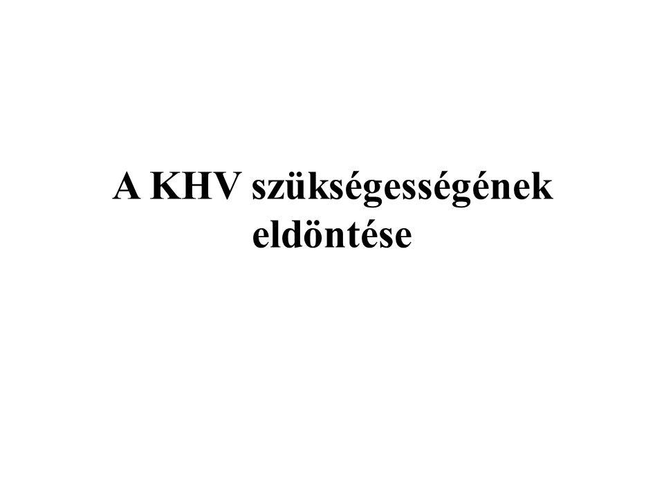 A KHV szükségességének eldöntése Magyar Emőke és Dr. Tombácz Endre (ÖKO ZRt.) nyomán