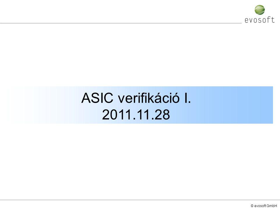 © evosoft GmbH ASIC verifikáció I. 2011.11.28