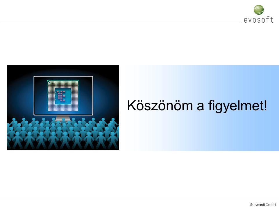 © evosoft GmbH Köszönöm a figyelmet!