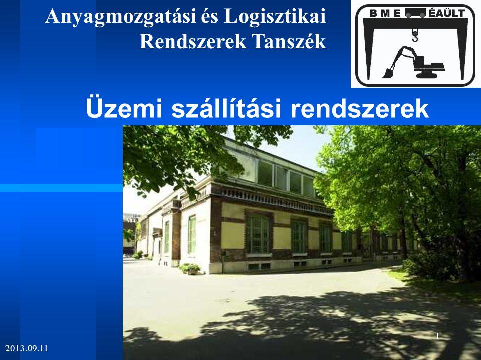 A logisztika részterületei  Ipari  Kereskedelmi  Szolgáltatási  mezőgazdasági termelési  erdészeti  kórházi  gyógyszertári  banki  háztartási  vasúti  postai  honvédségi  anyagmozgatási szállítástechnikai logisztika 2013.09.11 22