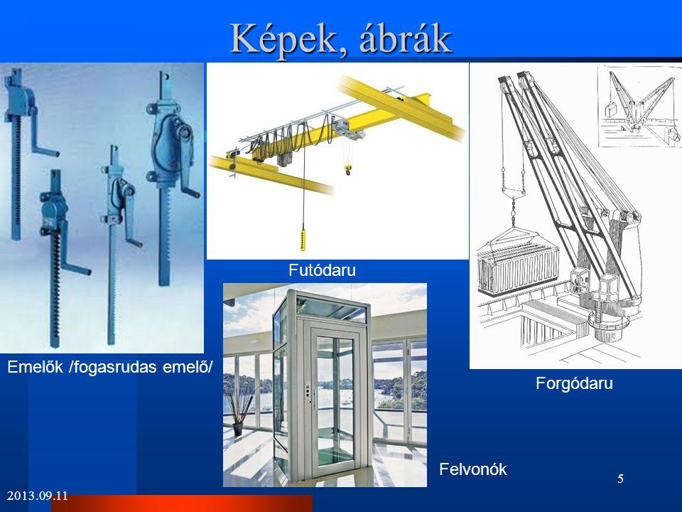 Képek, ábrák 2013.09.11 Tolópad TargoncaSzállítószalag Serleges elevátor 6
