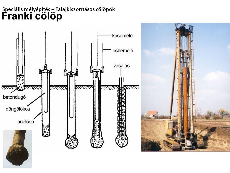 Speciális mélyépítés – Talajkiszorításos cölöpök Franki cölöp