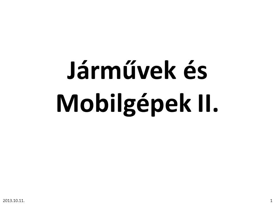 Járművek és Mobilgépek II. 12013.10.11.