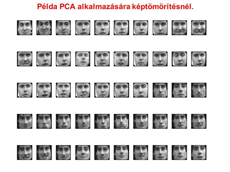 Példa PCA alkalmazására képtömörítésnél.