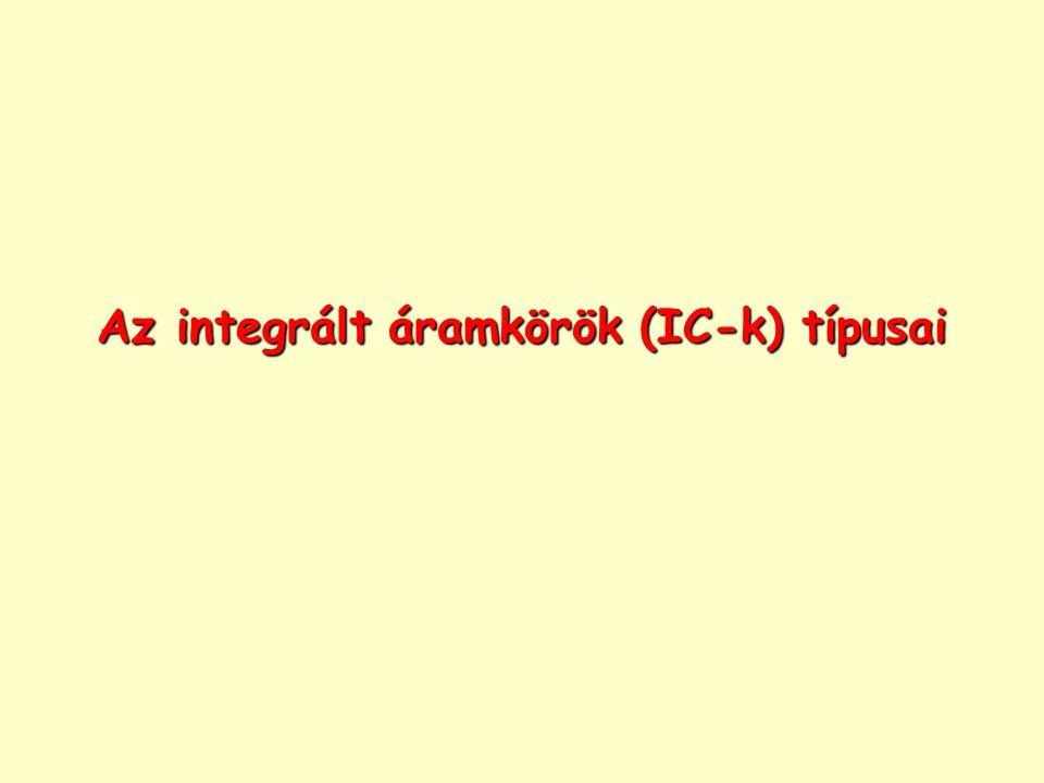Az integrált áramkörök (IC-k) típusai