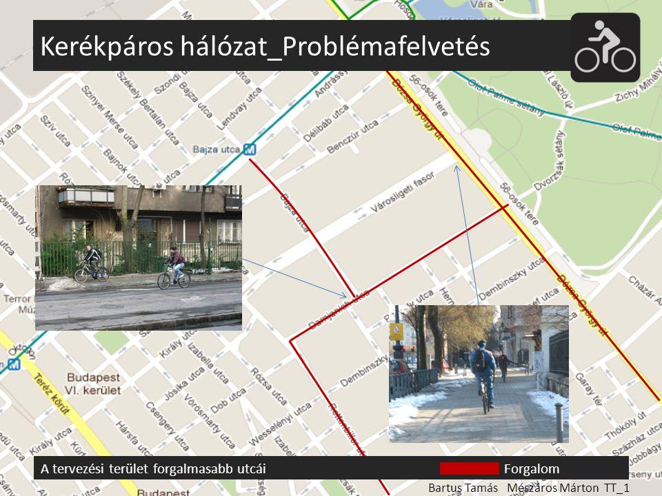 Kerékpáros hálózat_Problémafelvetés A tervezési terület forgalmasabb utcáiForgalom Bartus Tamás Mészáros Márton TT_1
