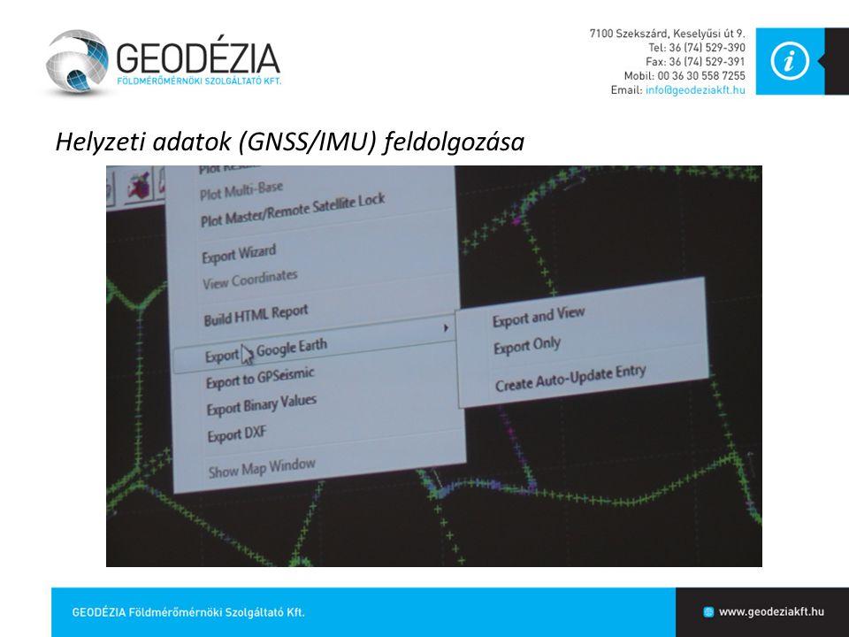 Helyzeti adatok (GNSS/IMU) feldolgozása