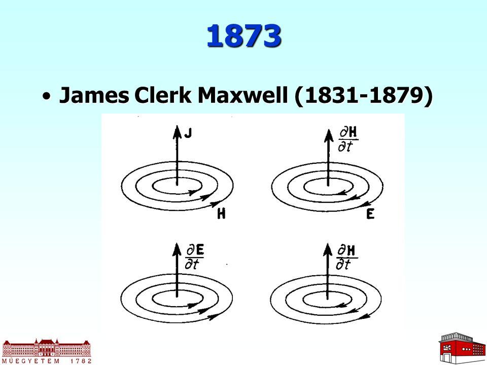 1873 James Clerk Maxwell (1831-1879)James Clerk Maxwell (1831-1879)