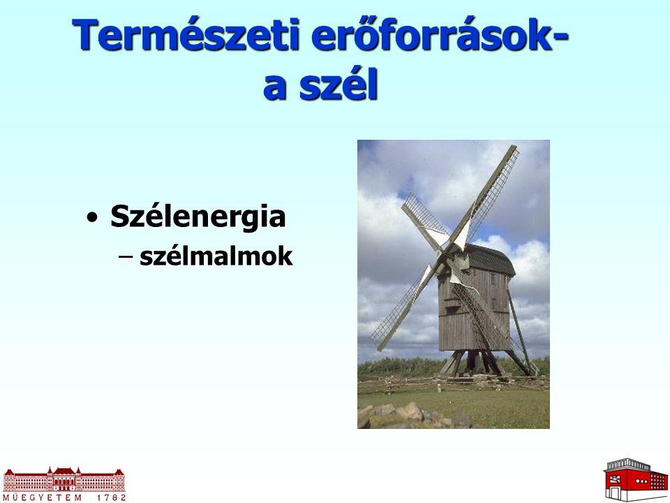 SzélenergiaSzélenergia –szélmalmok Természeti erőforrások- a szél