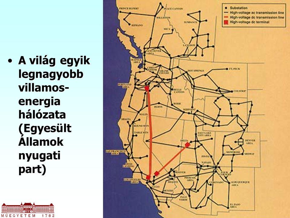 49 A világ egyik legnagyobb villamos- energia hálózata (Egyesült Államok nyugati part)A világ egyik legnagyobb villamos- energia hálózata (Egyesült Ál