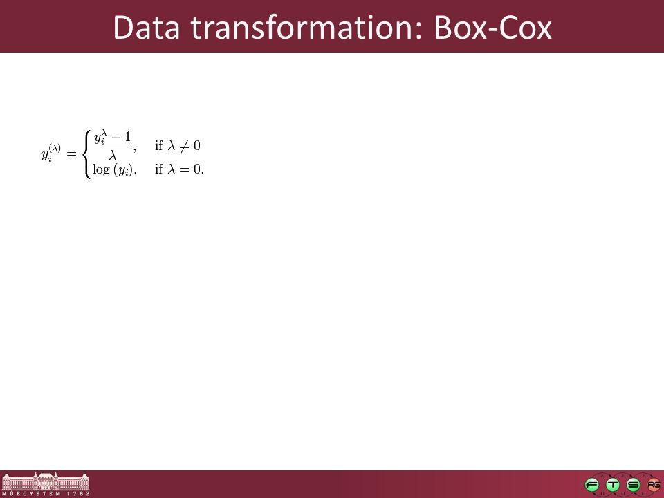 Data transformation: Box-Cox