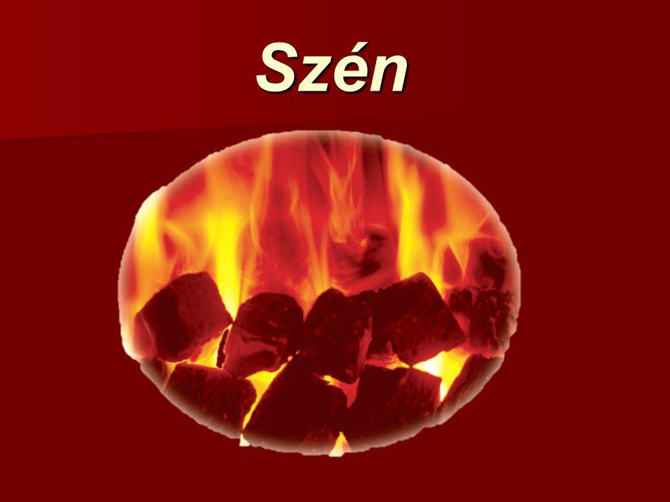 Szén Kiinduló anyag: cellulóz, hemicellulóz, pektinek, gyanták, zsírok, viaszok, fehérjék.