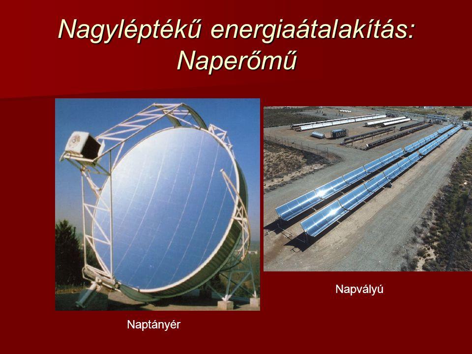 Nagyléptékű energiaátalakítás: Naperőmű Naptányér Napvályú