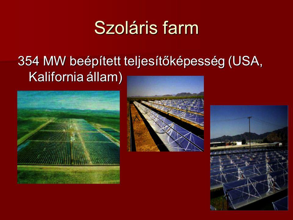 Szoláris farm 354 MW beépített teljesítőképesség (USA, Kalifornia állam)