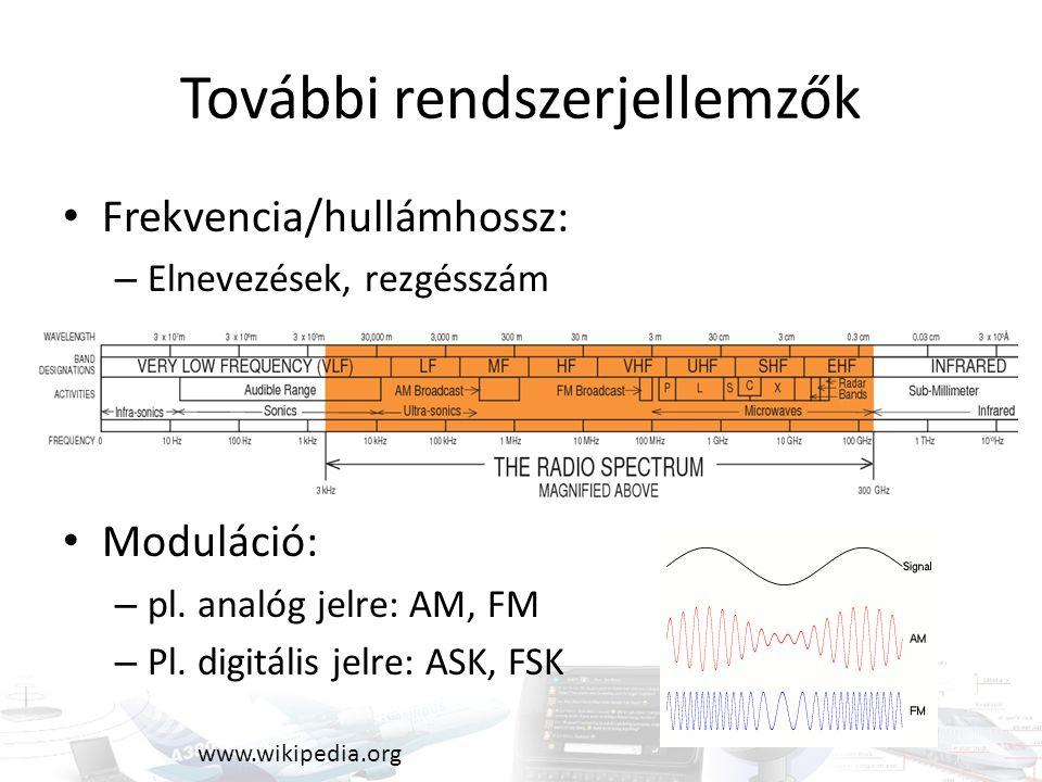 Vezeték nélküli hálózat WLAN (wireless local area network) IEEE 802.11 szabványsorozat: – WiFi – Ismert változatok: b,g,n IEEE 802.16 szabvány: – Wimax – Ismert változatok: d,e – Magyarországon 802.16e (Invitel) www.wimaxforum.org