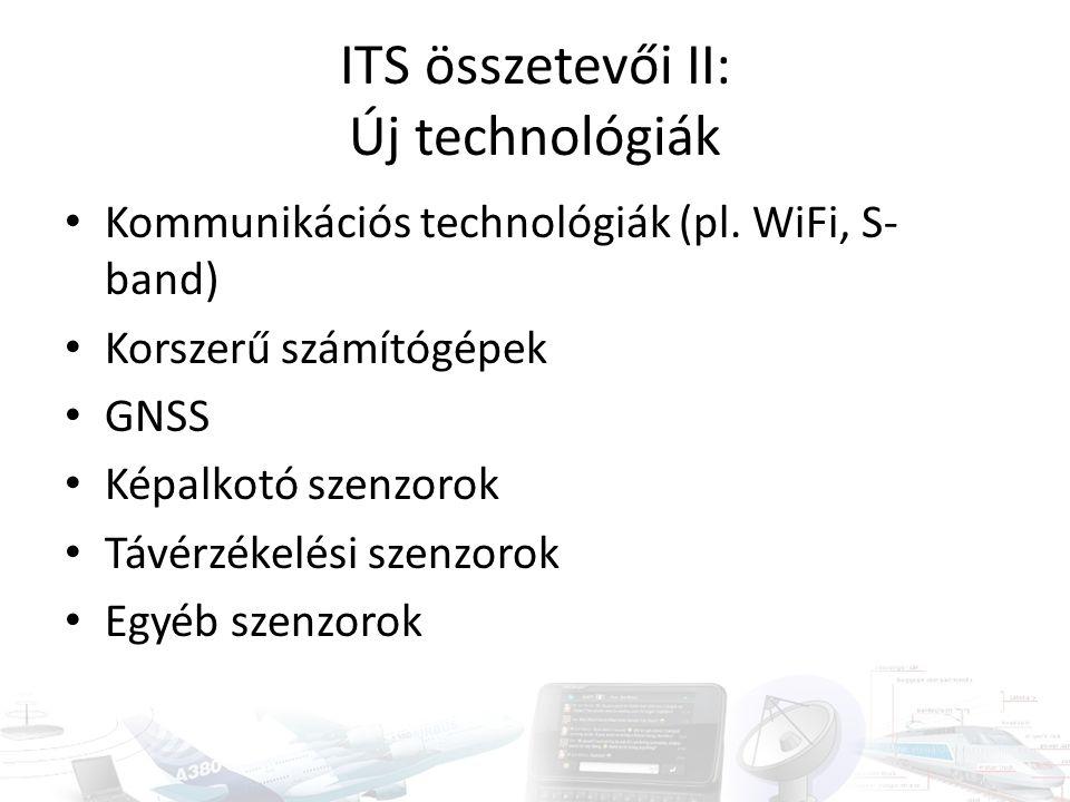 ITS összetevői II: Új technológiák Kommunikációs technológiák (pl.