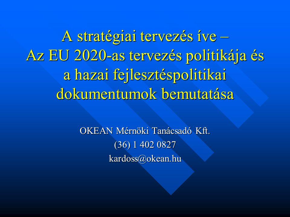 A stratégiai tervezés íve – Az EU 2020-as tervezés politikája és a hazai fejlesztéspolitikai dokumentumok bemutatása OKEAN Mérnöki Tanácsadó Kft. (36)