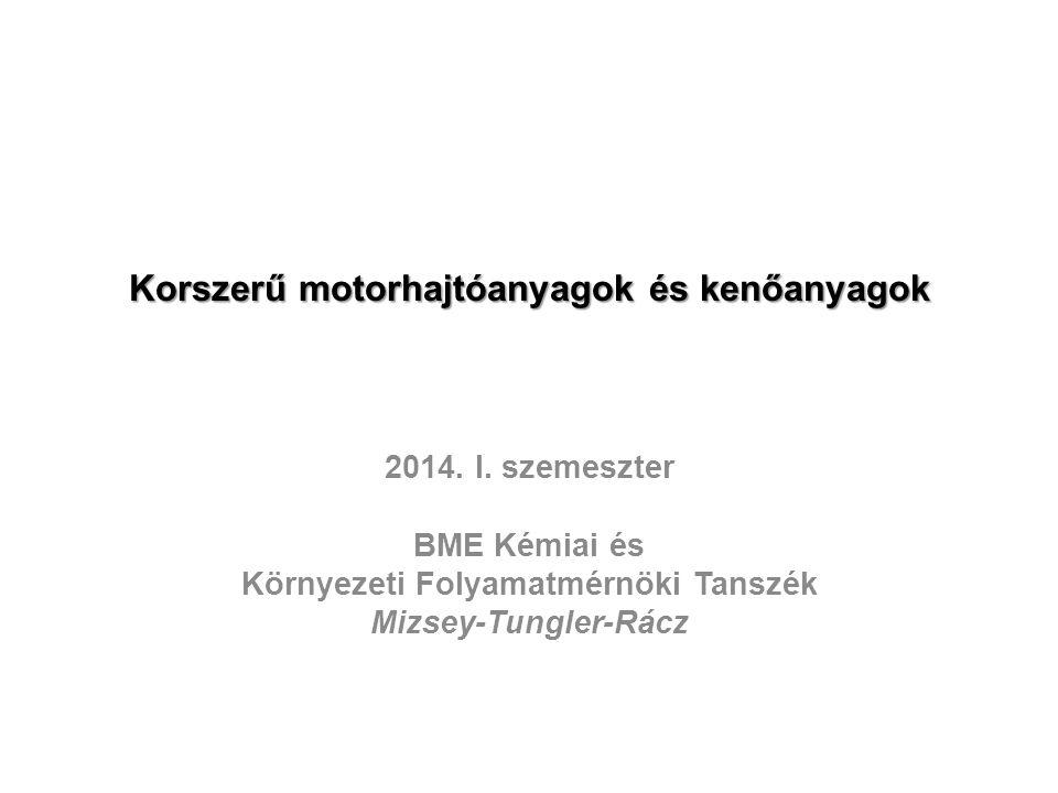 Korszerű motorhajtóanyagok és kenőanyagok 2014.I.