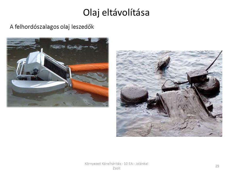 A felhordószalagos olaj leszedők Olaj eltávolítása Környezeti Kárelhárítás - 10 EA - Jolánkai Zsolt 29
