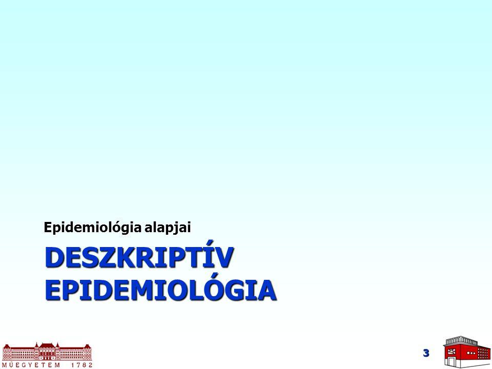 Deszkriptív epidemiológia I.