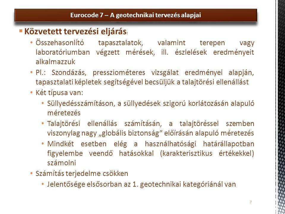 Eurocode 7 – A geotechnikai tervezés alapjai 18 ■■■■■■■■■■■■■■■■■■■■■■■■ □□□□□□□ 2.