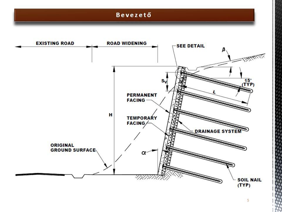 Tönkremeneteli mechanizmusok  A talajszeggel megtámasztott szerkezetek legfontosabb tönkremeneteli mechanizmusai:  Belső stabilitásvesztési mechanizmusok  Talajszeg kihúzódása (talaj-szeg/habarcs)  Talajszeg kihúzódása (szeg-habarcs)  Talajszeg szakadás húzásra  Talajszeg nyírási tönkremenetele 26