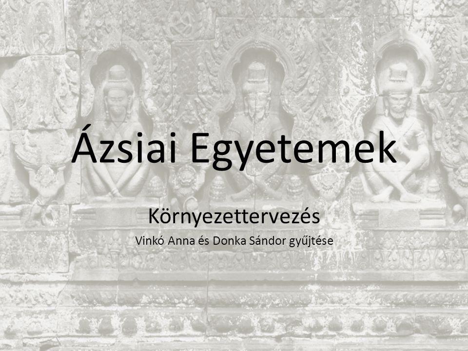 Ázsiai Egyetemek Környezettervezés Vinkó Anna és Donka Sándor gyűjtése