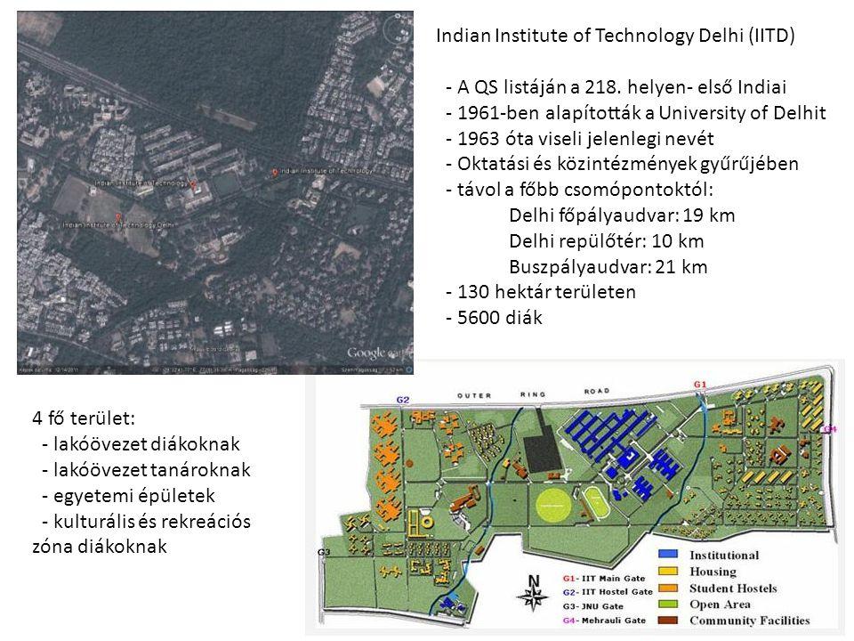- A QS listáján a 218. helyen- első Indiai - 1961-ben alapították a University of Delhit - 1963 óta viseli jelenlegi nevét - Oktatási és közintézménye
