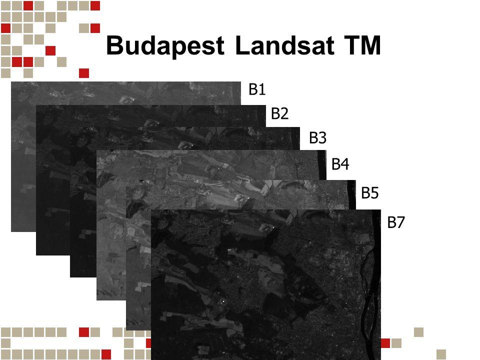 Budapest Landsat TM B1 B2 B3 B4 B5 B7