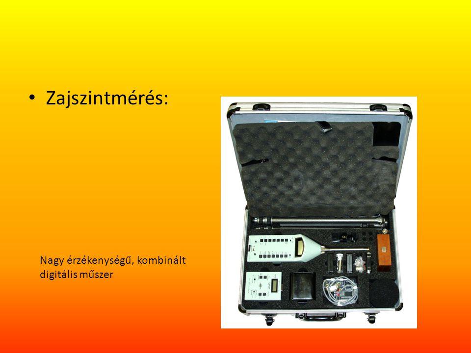 Zajszintmérés: Nagy érzékenységű, kombinált digitális műszer