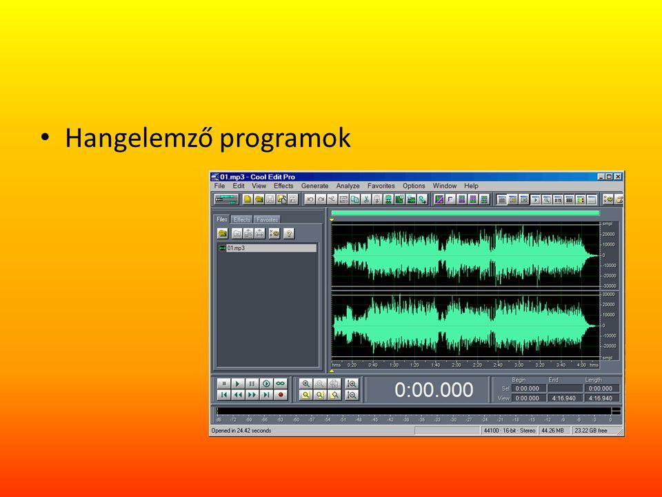Hangelemző programok