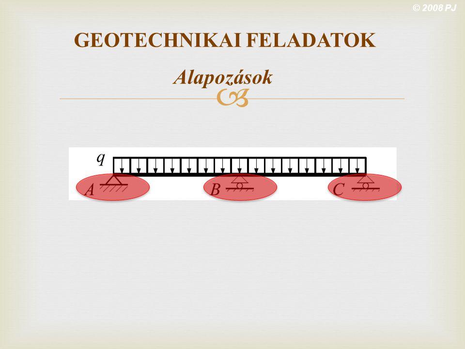  © 2008 PJ GEOTECHNIKAI FELADATOK Alapozások