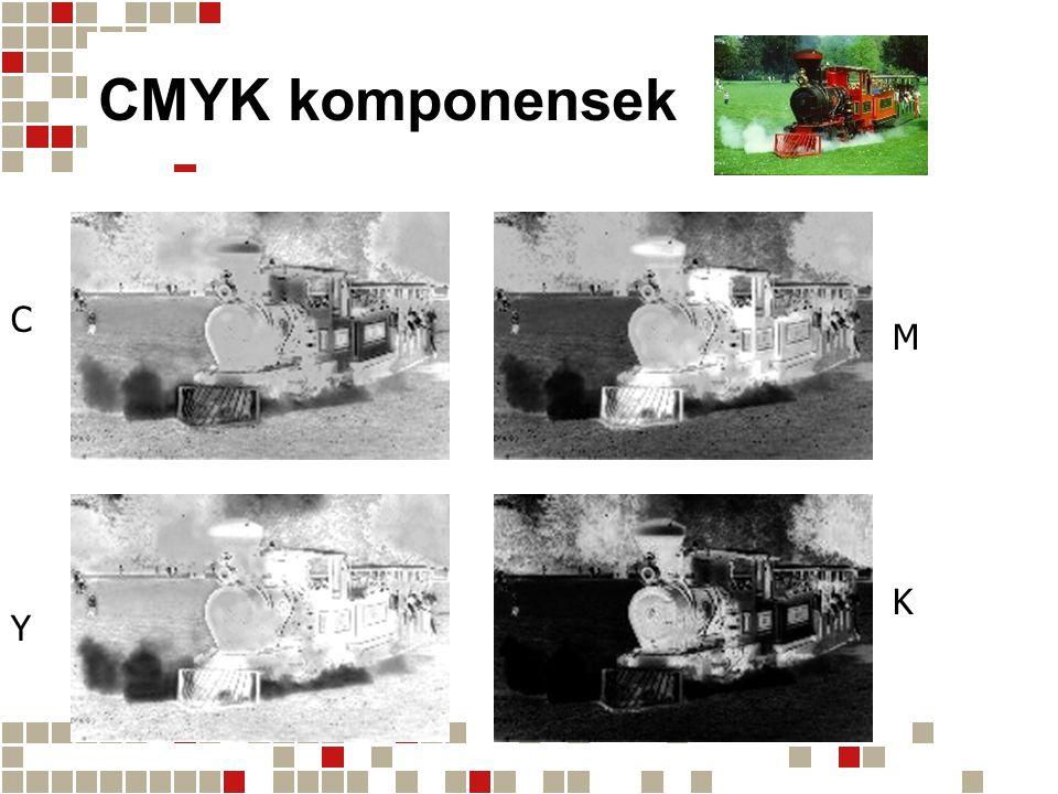 CMYK komponensek C M Y K