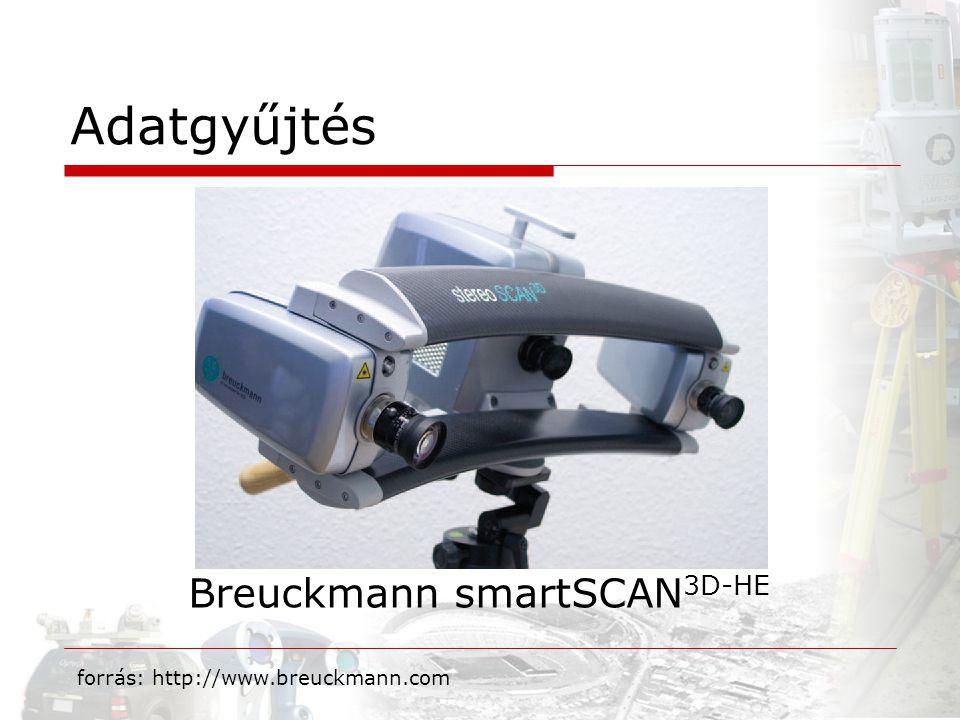 Adatgyűjtés Breuckmann smartSCAN 3D-HE forrás: http://www.breuckmann.com
