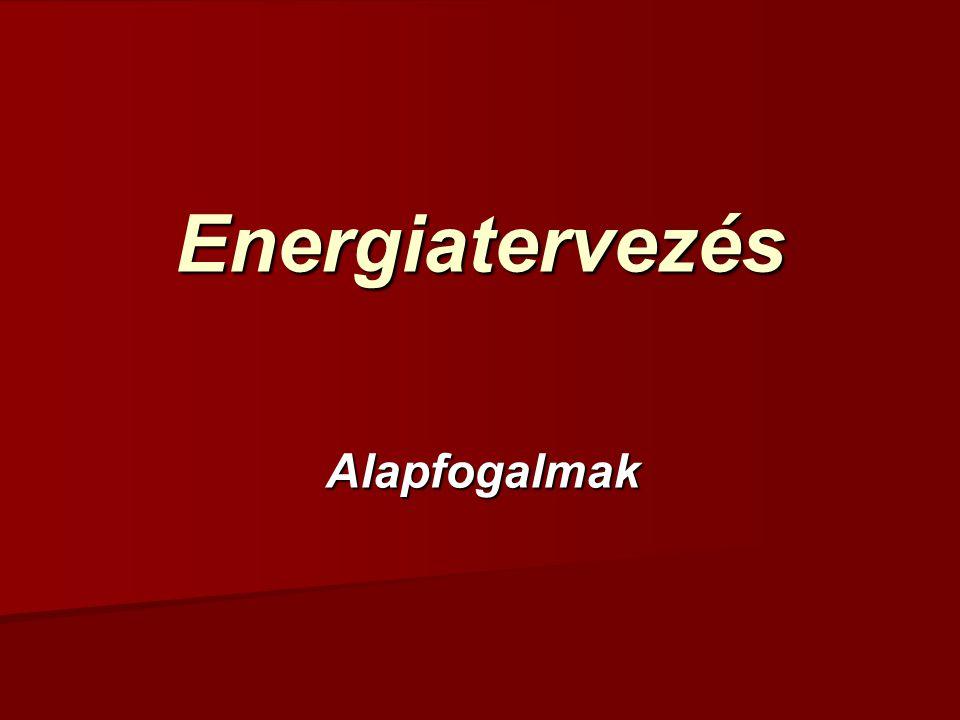 Energiatervezés Alapfogalmak