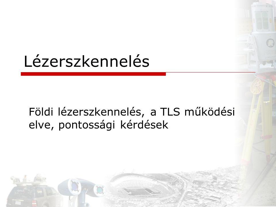 Lézerszkennelés Földi lézerszkennelés, a TLS működési elve, pontossági kérdések