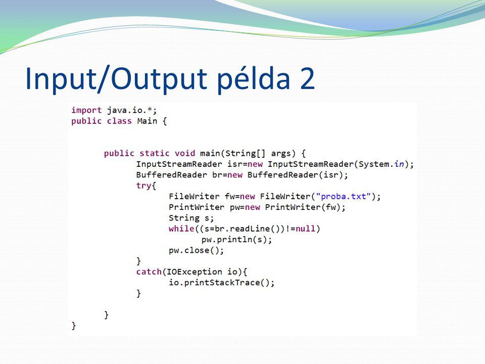 Input/Output példa 2