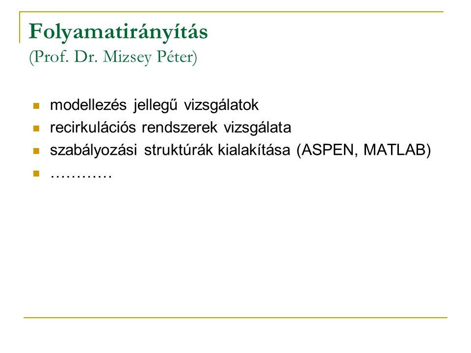 Folyamatirányítás (Prof.Dr.